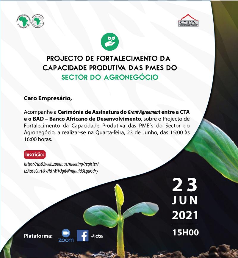 PROJECTO DE FORTALECIMENTO DE CAPACIDADE PRODUTIVA DAS PME´S DO SECTOR DO AGRONEGÓCIO