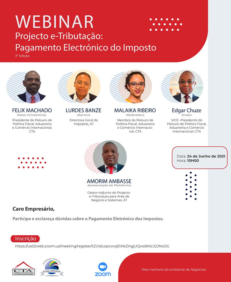 WEBINAR: Projecto e-Tributação:  Pagamento Electrónico do Imposto