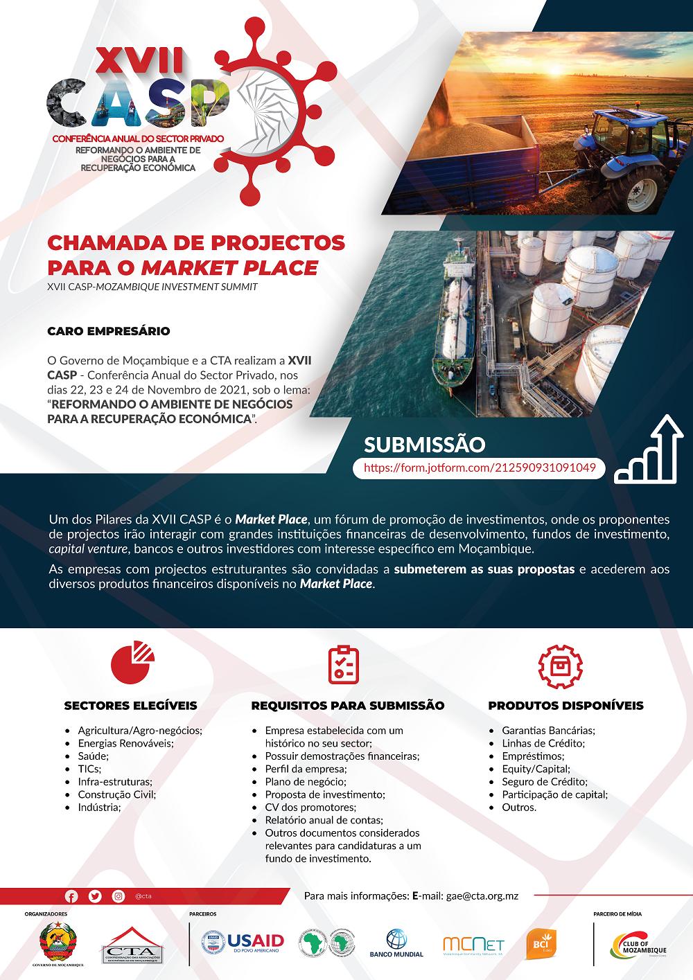Chamada de Projectos  para o Market Place