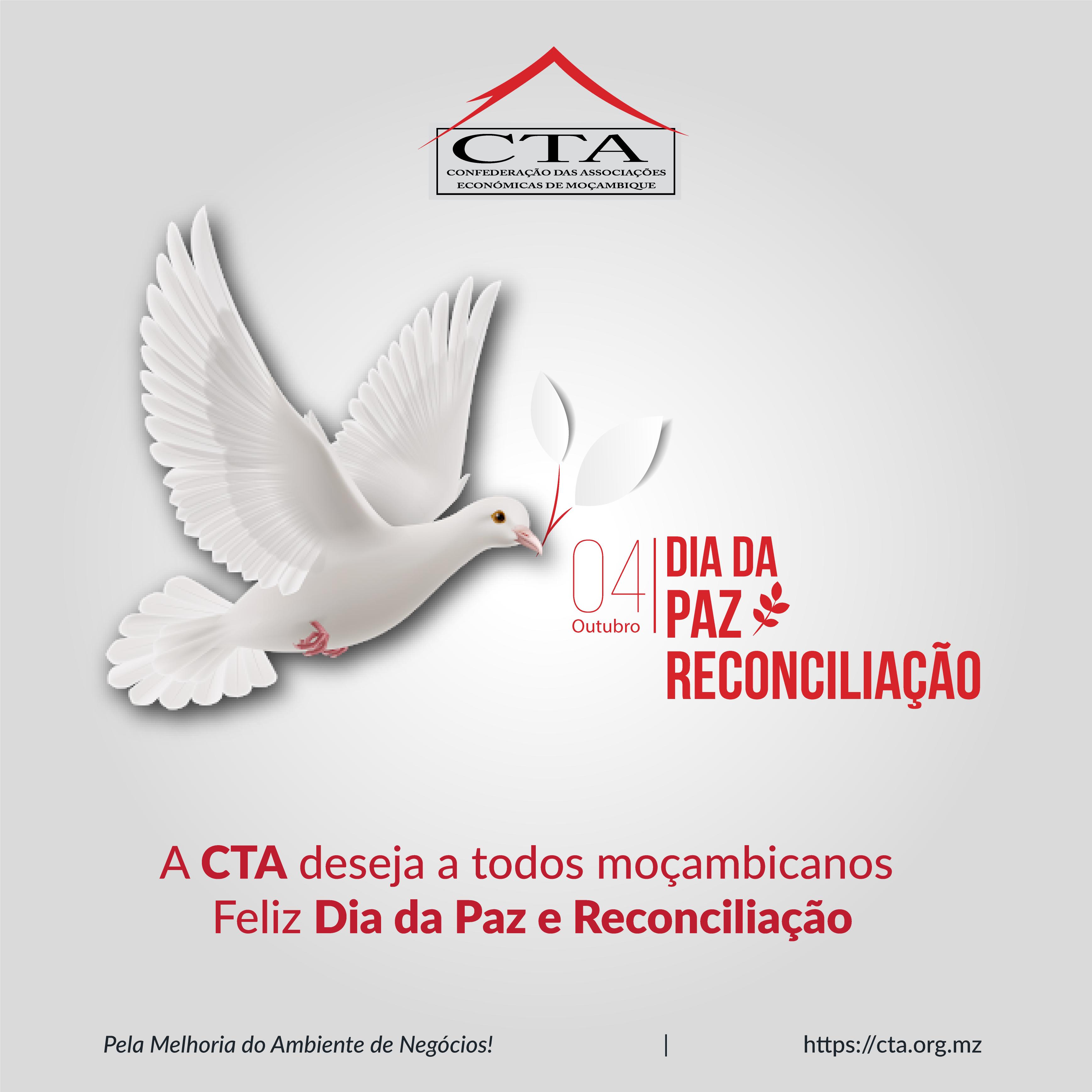 A CTA deseja a todos moçambicanos  Feliz Dia da Paz e Reconciliação